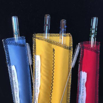 Colorful Family Pack Glass Straw Set