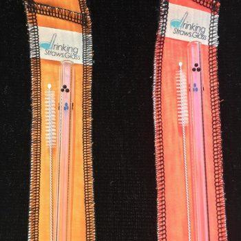 Boo Pack Glass Straw Set