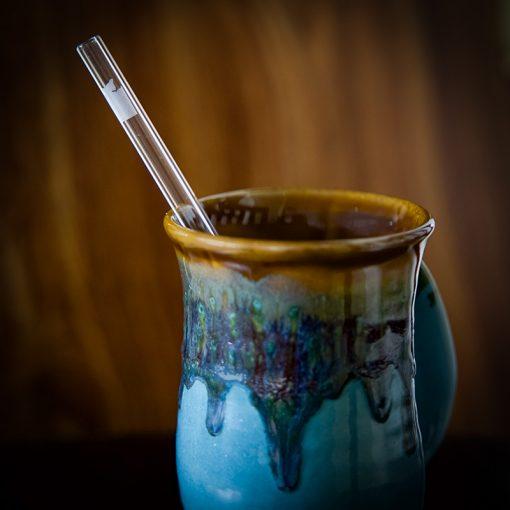 Washington state etched glass drinking straw