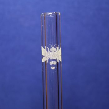 bee etched glass straw