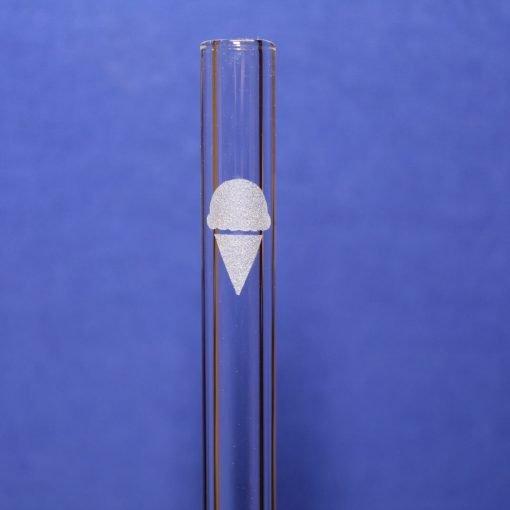 ice cream etched glass straw