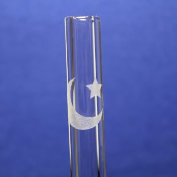 Moon and star etched glass straw