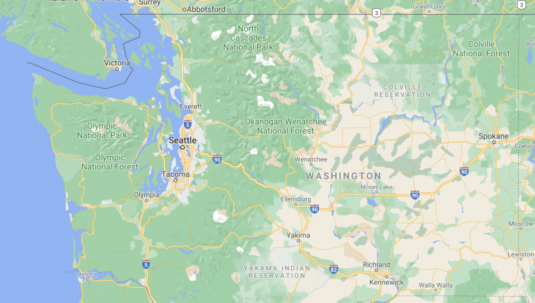 map of washington state