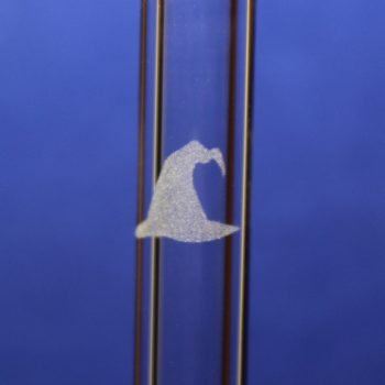 Witch Hat Etched Glass Straw
